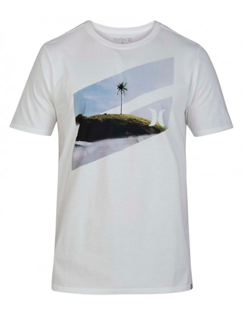 Hurley Icon Slash Palm Short Sleeve T-Shirt in White