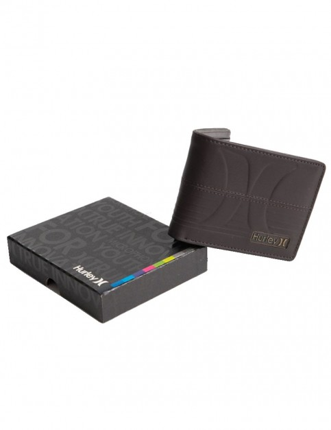 Chocolate Hurley Interval Leather Wallet