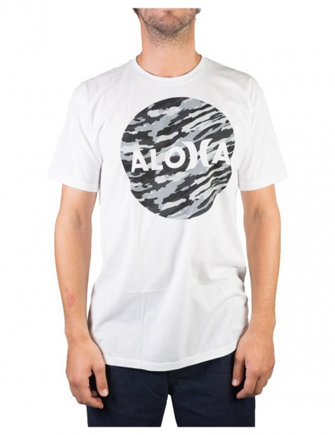 White Hurley JJF Aloha Crush Short Sleeve T-Shirt
