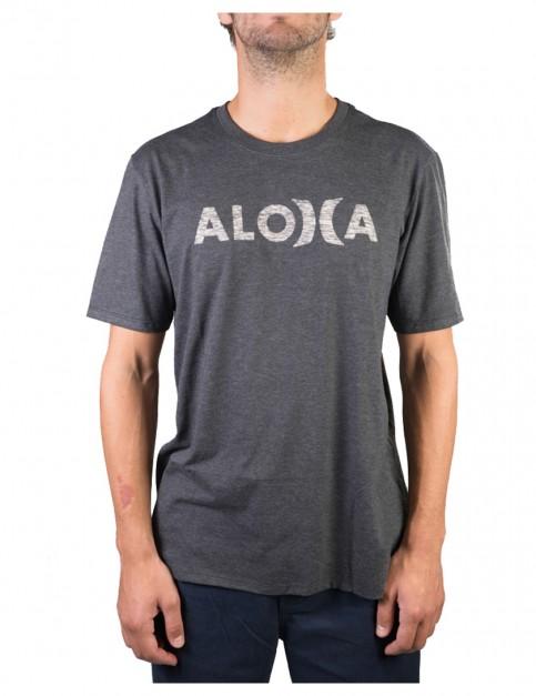 Heather Black Hurley JJF Aloha Push Thru Short Sleeve T-Shirt