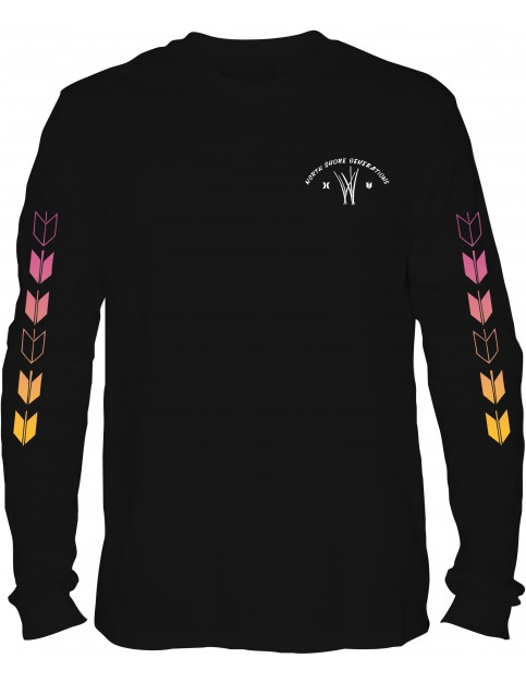 Hurley JJF Kahuliwae Long Sleeve T-Shirt in Black