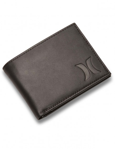 Hurley Leather Leather Wallet in Black