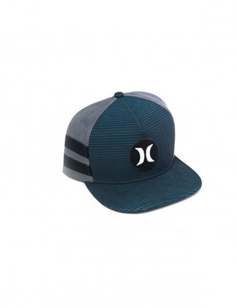 Hurley Motion Stripe Cap in Chlorine Blue