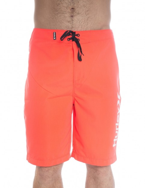 Hurley One & Only 2.0 Mid Length Boardshorts in Bright Crimson