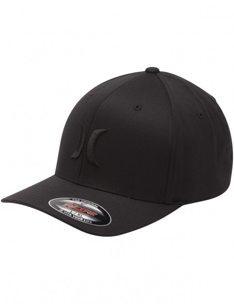 Hurley One & Only Black and White Cap in Black