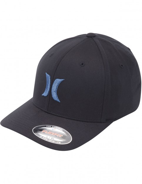 Hurley One & Only Black and White Cap in Chlorine Blue