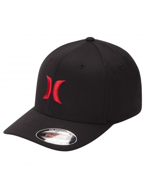 Hurley One & Only Cap in Black/Speed Red