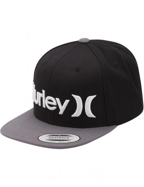 Hurley One & Only Snapback Cap in Dark Grey