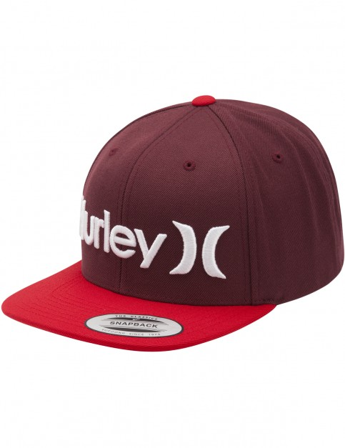 Hurley One & Only Snapback Cap in Mahogany