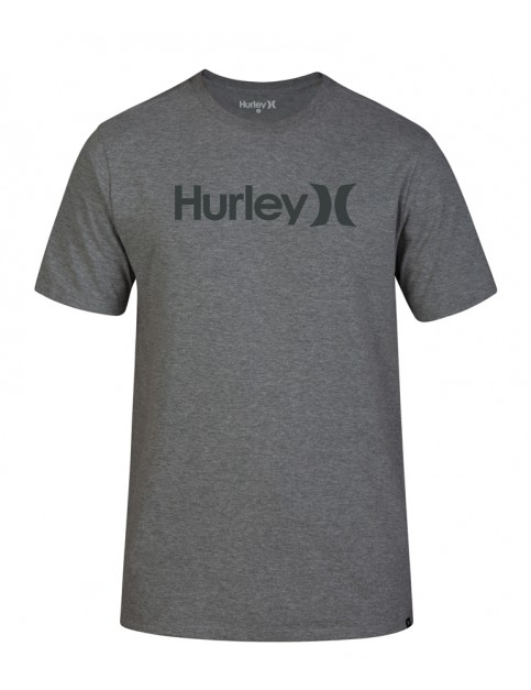 Hurley One & Only Solid Short Sleeve T-Shirt in Dk Grey Htr