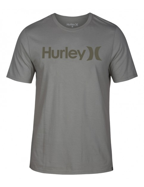 Hurley One & Only Solid Short Sleeve T-Shirt in Spruce Fog