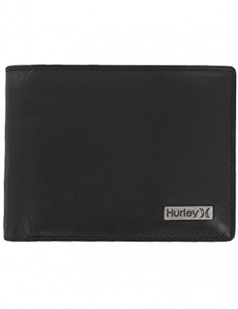 Black Hurley One And Only Leather Wallet