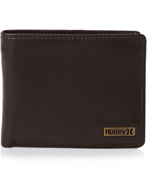 Chocolate Hurley One And Only Leather Wallet