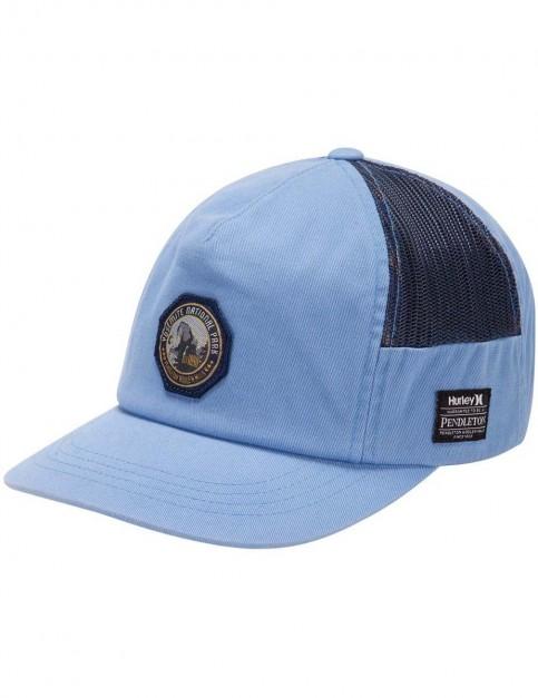 Hurley Pendleton Yosemite Hat Cap in Chlorine Blue / Black