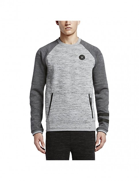 Hurley Phantom Advance Crew Sweatshirt in Dark Grey Heather