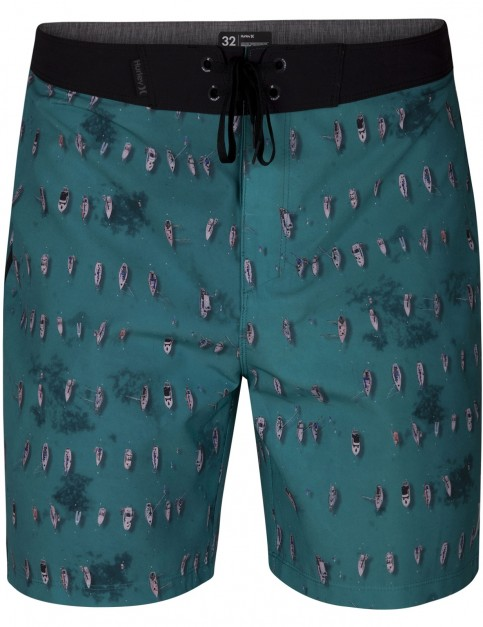 Hurley Phantom Bora Mid Length Boardshorts in Aurora Green