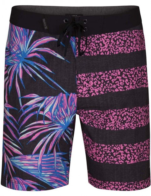 Hurley Phantom Floral 18 inch Mid Length Boardshorts in Black