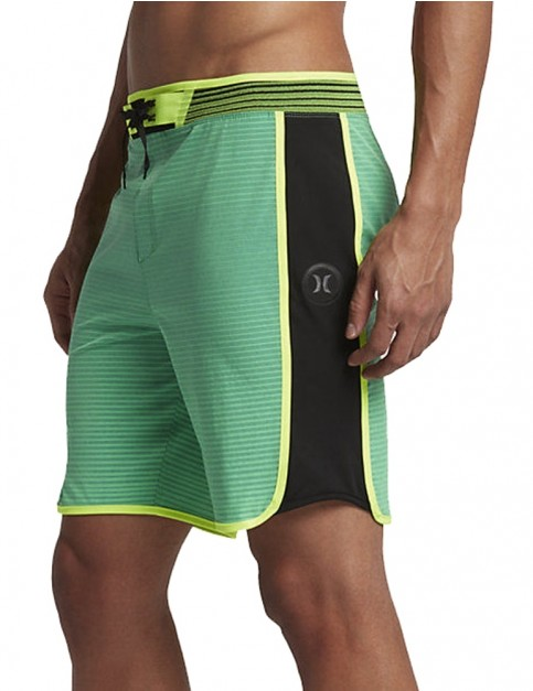 Hurley Phantom Hyperweave Motion Stripe Technical Boardshorts in Washed Electro Green