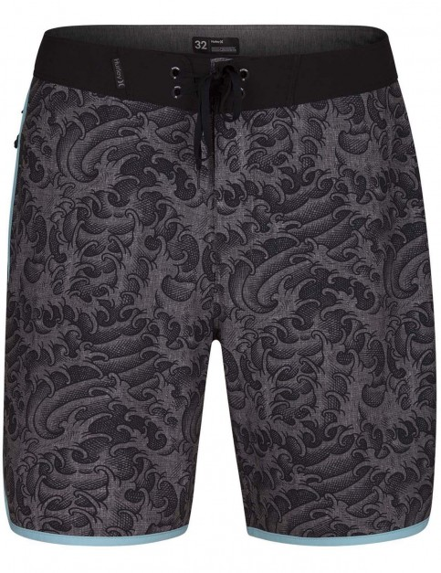 Hurley Phantom Kanpai 18inch Mid Length Boardshorts in Anthracite