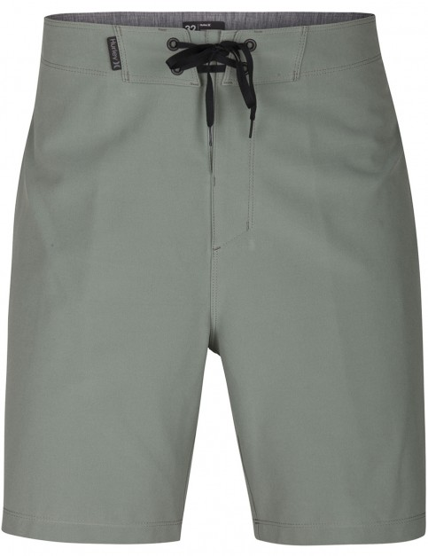 Hurley Phantom One & Only 18 Mid Length Boardshorts in Clay Green