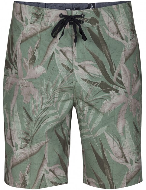 Hurley PHTM JJF MAPS 20 Inch Mid Length Boardshorts in Faded Olive