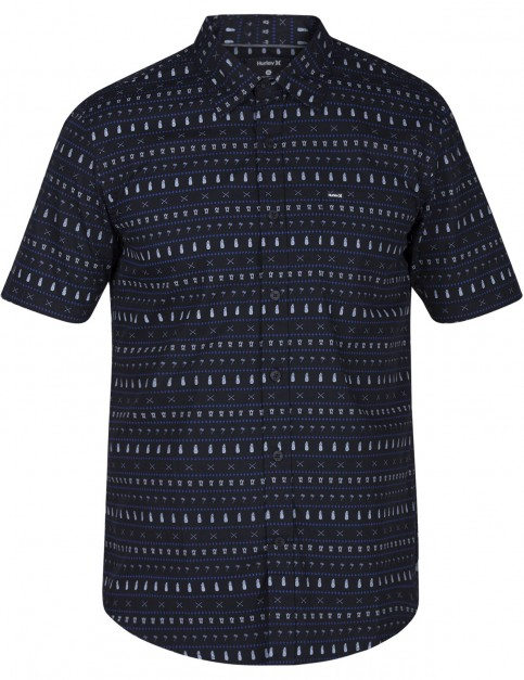 Hurley Print Shop Short Sleeve Shirt in Black