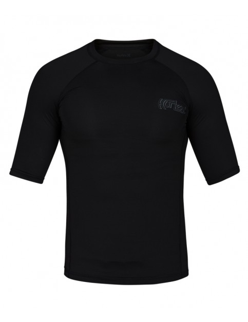 Hurley Pro Light OG Short Sleeve Rash Vest in Black