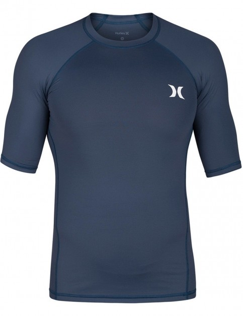 Hurley Pro Light Short Sleeve Rash Vest in Squadron Blue