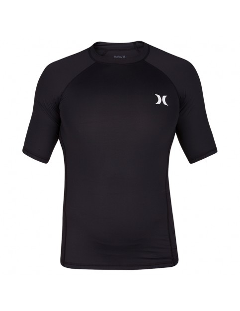 Hurley Pro Light Top Short Sleeve Rash Vest in Black