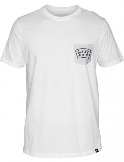 Hurley Roped In Pocket Short Sleeve T-Shirt in White