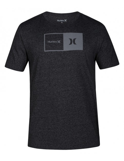 Hurley Siro Natural Short Sleeve T-Shirt in Black Heather