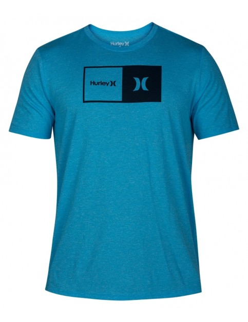 Hurley Siro Natural Short Sleeve T-Shirt in Blue Fury Heather