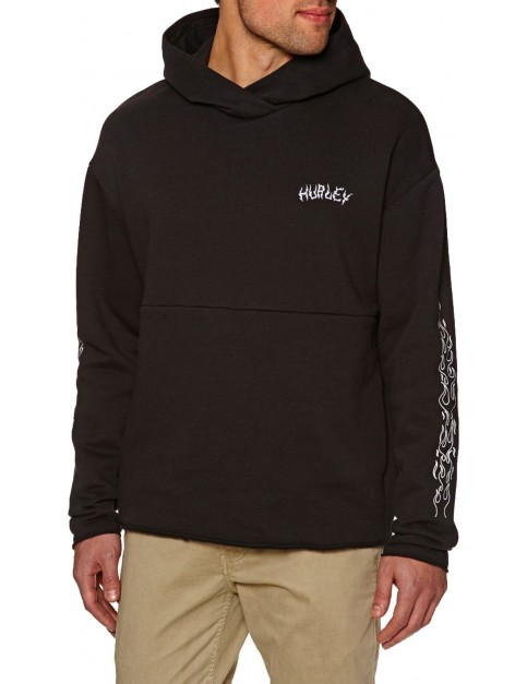 Hurley Surf Check Firing Pullover Hoody in Black