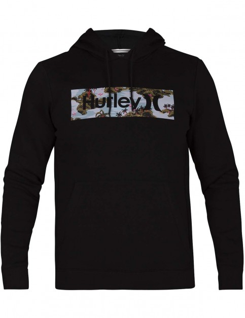 Hurley Surf Check Flamingo Pullover Hoody in Black