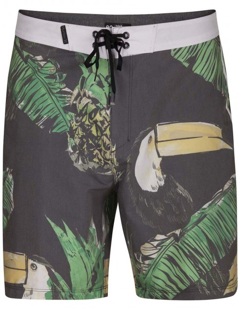 Hurley Toucan 18inch Mid Length Boardshorts in Black