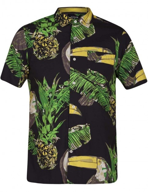 Hurley Toucan Short Sleeve Shirt in Black