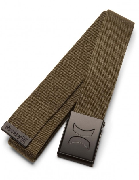 Hurley Web Webbing Belt in Olive Canvas