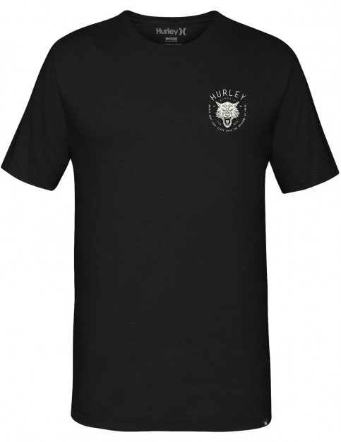 Hurley Wolf Short Sleeve T-Shirt in Black