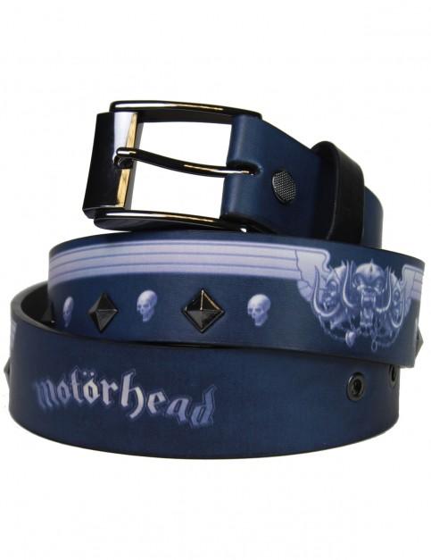 Lowlife Motorhead Wings Leather Belt in Black