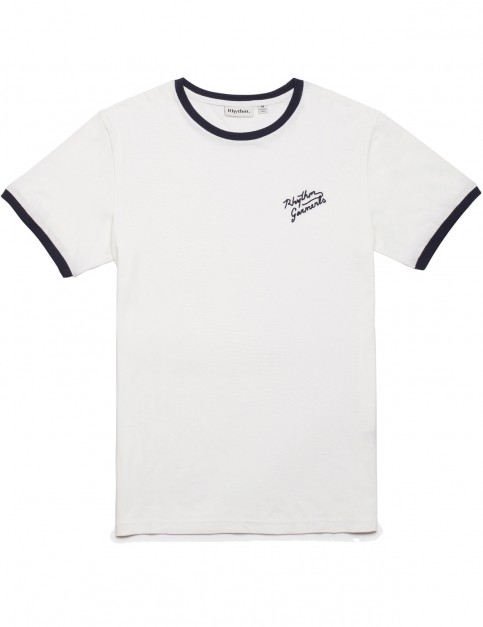 Rhythm Ringer Short Sleeve T-Shirt in White