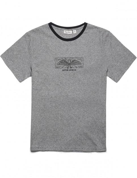 Rhythm Aviary Short Sleeve T-Shirt in Black