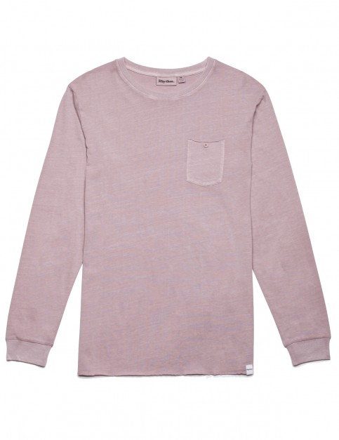 Rhythm Everyday Wash Long Sleeve T-Shirt in Vintage Musk