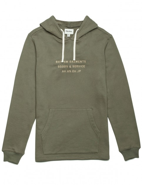 Rhythm Base Pullover Hoody in Olive