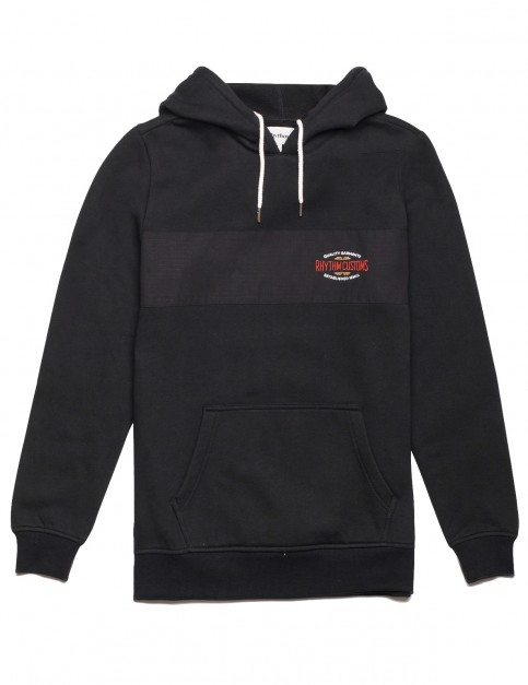 Rhythm Customs Pullover Hoody in Black