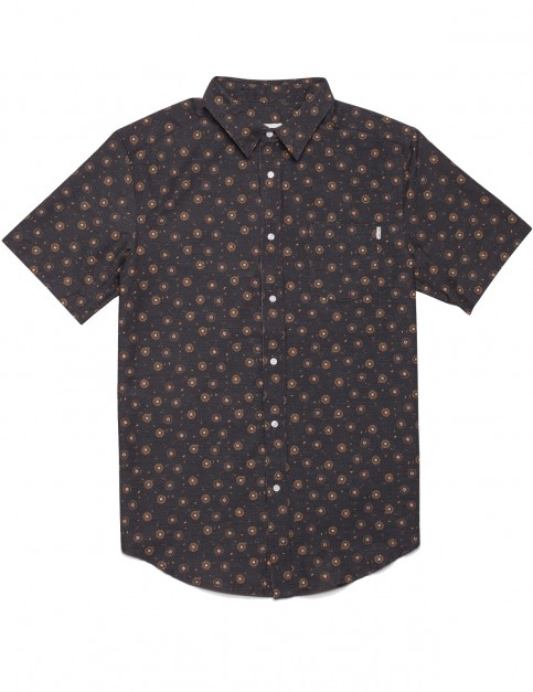 Rhythm Bengal Short Sleeve Shirt in Charcoal