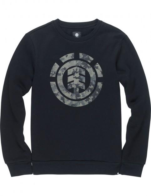 Element Bark Logo Sweatshirt in Flint Black