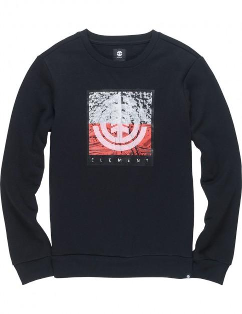 Element Reroute Crew Sweatshirt in Flint Black