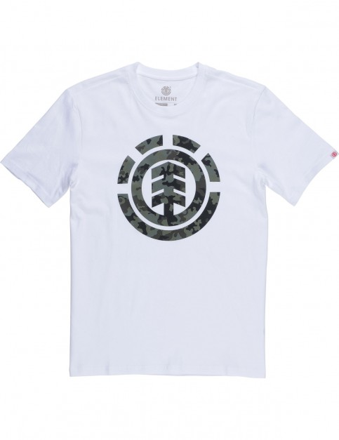 Element Bark Logo Short Sleeve T-Shirt in Optic White
