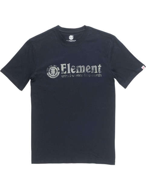 Element Bark Horizontal Short Sleeve T-Shirt in Flint Black