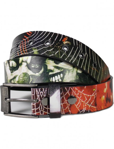 Lowlife Graveyard Shift Leather Belt in Full Colour Print